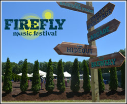 Firefly sign posts to the various venues