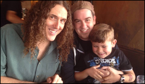 Weird Al, Jarrett Heather and Son Ethan